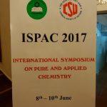 初めてのベトナム International Symposium on Pure & Applied Chemistry (ISPAC) 2017@Ho Chi Minh City